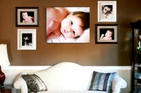 Baby combination of colored frames